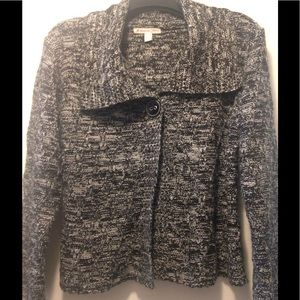 JM Collection single button chunky cardigan